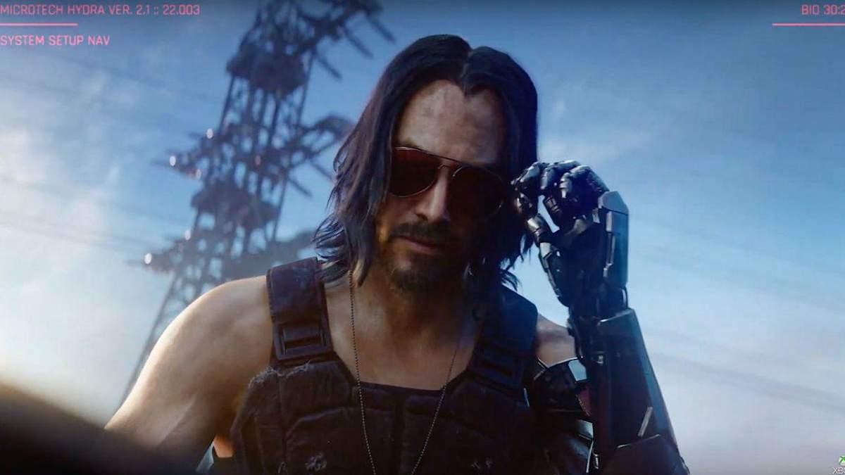 Новый тизер Cyberpunk 2077 с Киану Ривзом и музыкой Билли Айлиш: видео