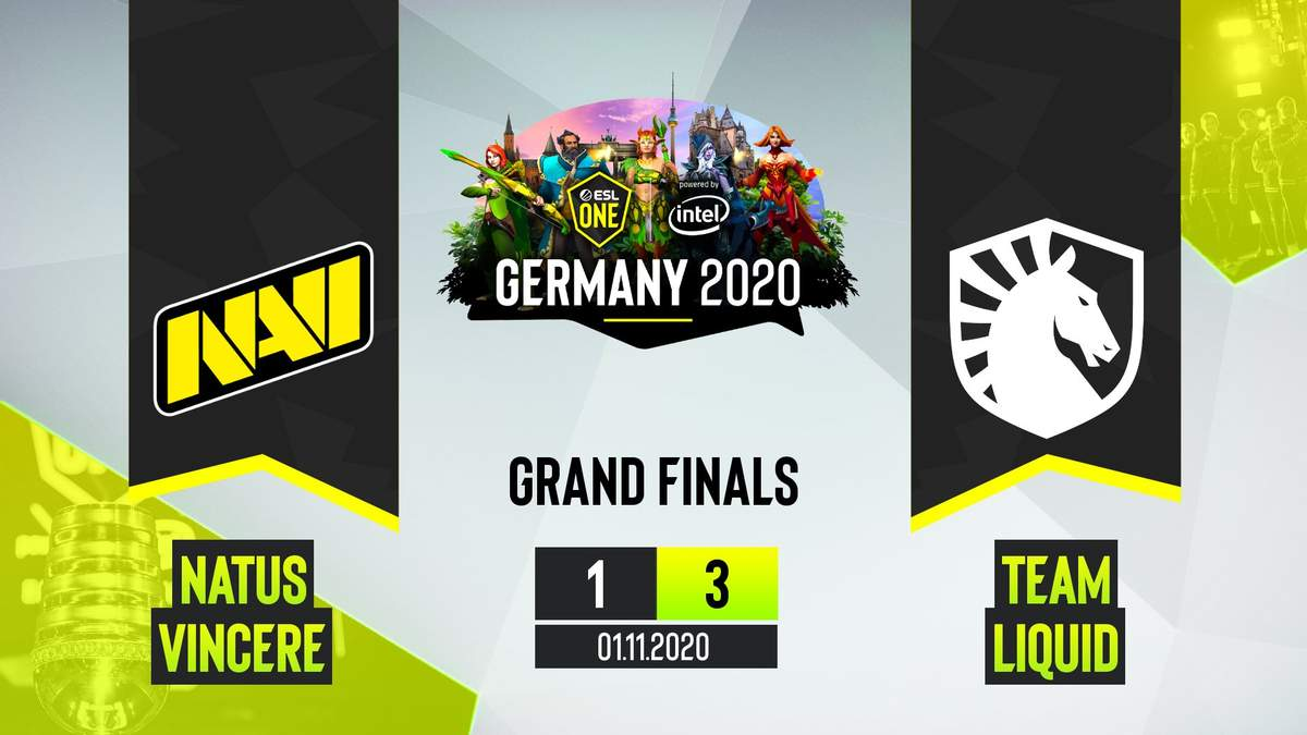 Українська команда програла у гранд-фіналі ESL One Germany 2020 команді Team Liquid з рахунком 1:3
