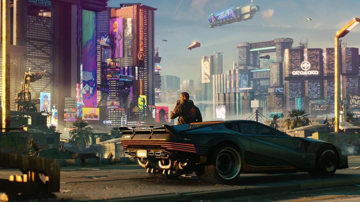 Мир будущего из игры Cyberpunk 2077