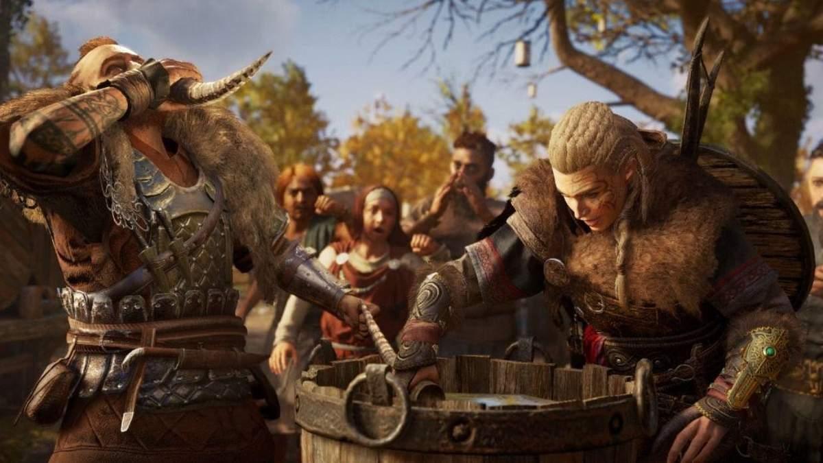 Праздничный баг с Assassin's Creed Valhalla: герой постоянно пьянеет