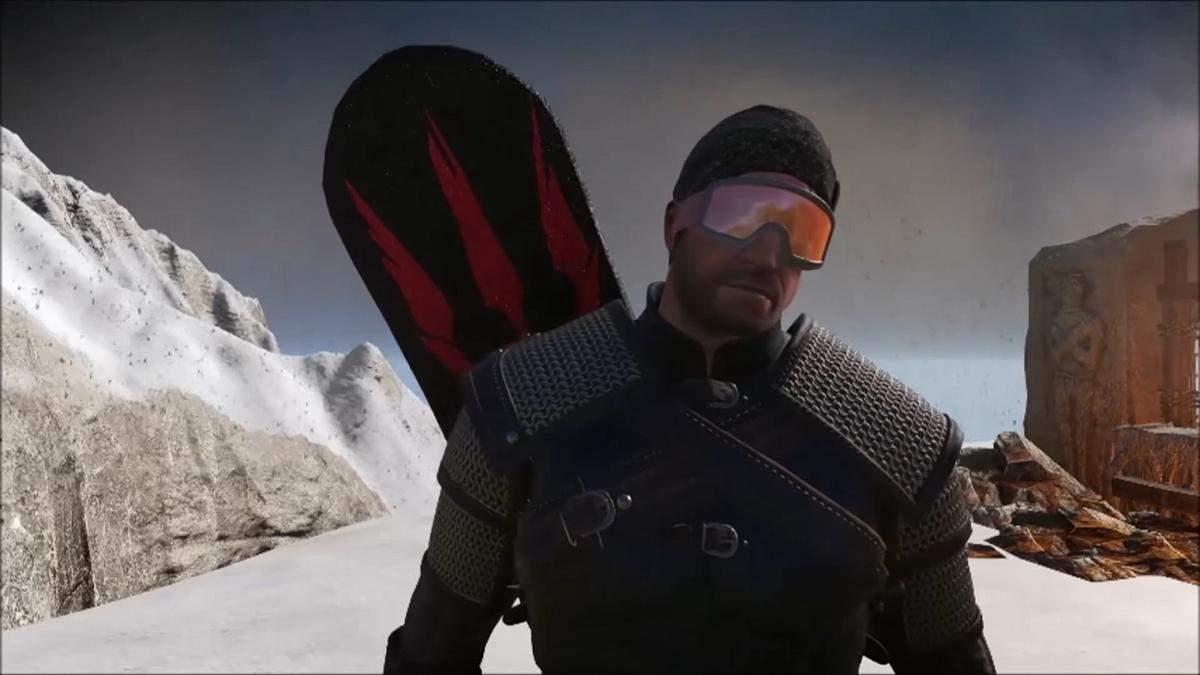 Моды для The Witcher 3: сноуборд для Геральта и катана с Cyberpunk