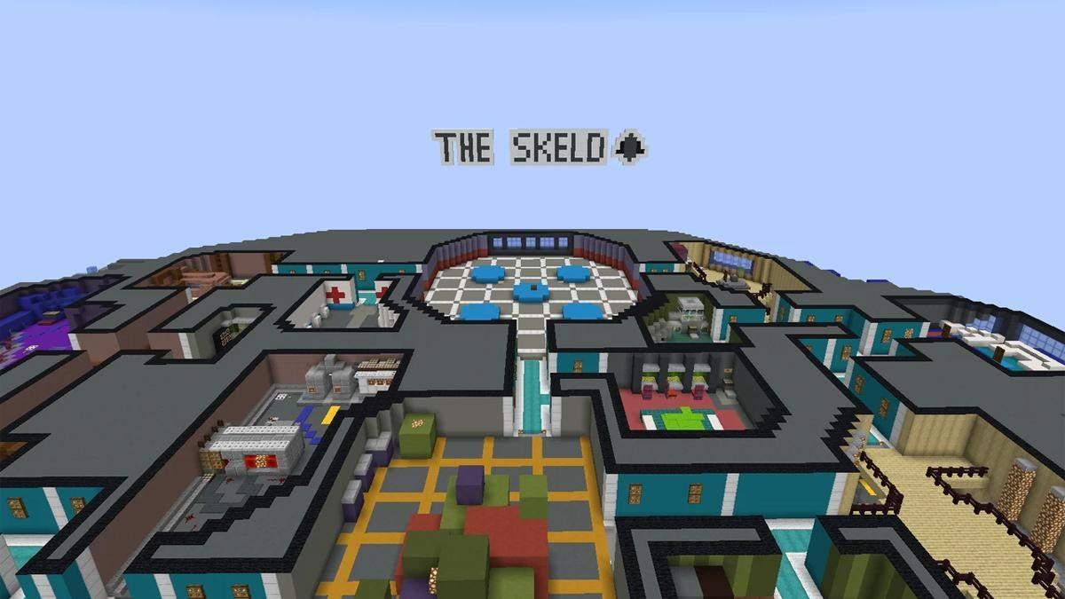 Карта The Skeld в Minecraft