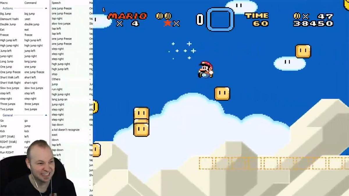 Super Mario World проходят с помощью голосовых команд