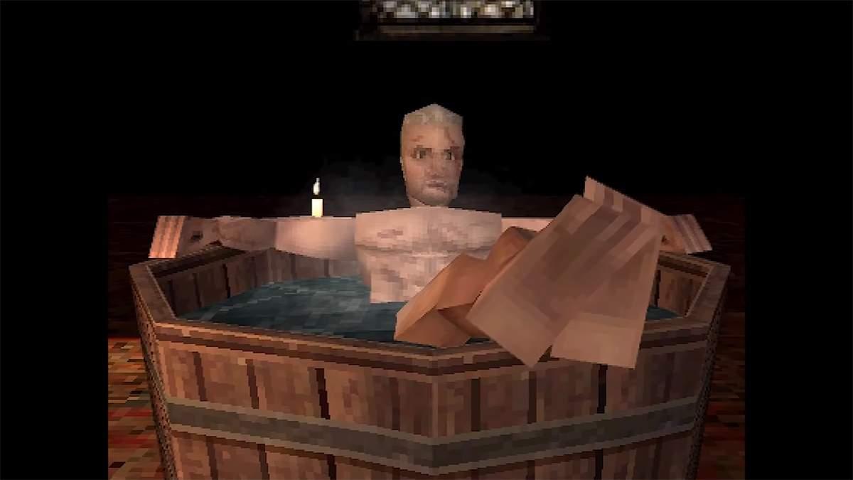 The Witcher 3 на PlayStation 1: энтузиаст воссоздал сцену из Геральтом