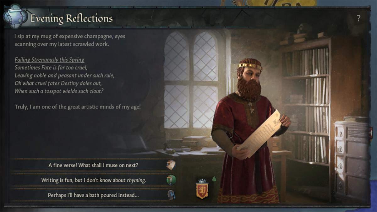 У Crusader Kings 3 можна буде стати поетом та творити