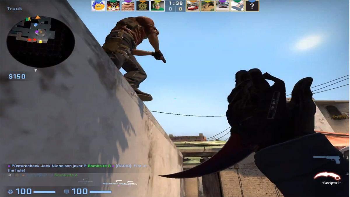 Гравець у CS:GO ліквідував усю ворожу команду без жодного пострілу
