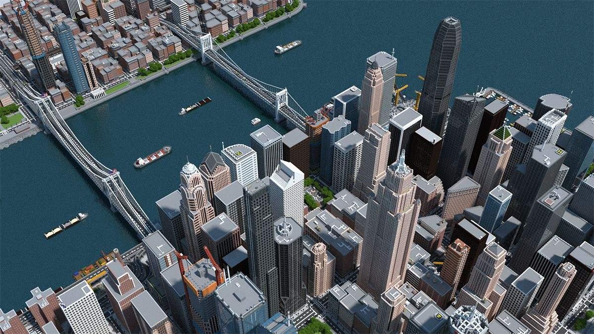 Ярый майнкрафтер построил удивительный мегаполис, потратив на это 3 года