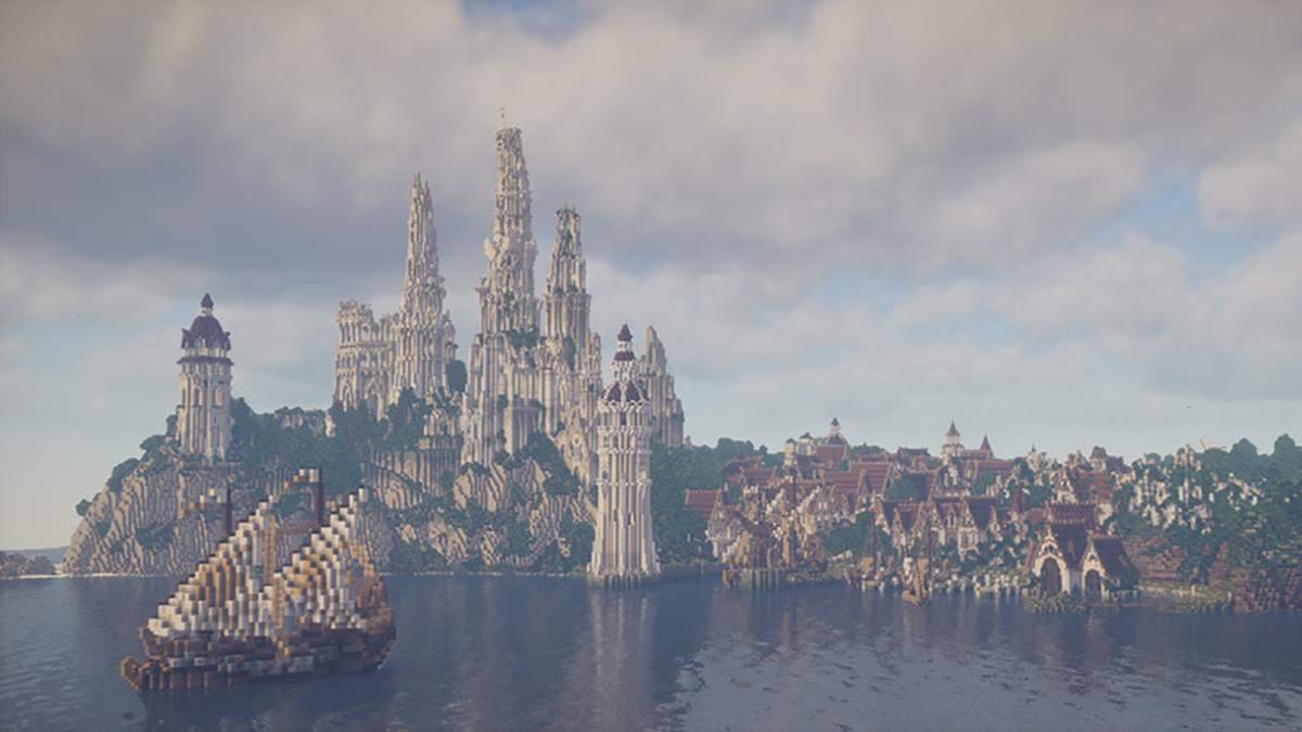 В Minecraft энтузиасты воспроизводят мир Средиземья с Властелина колец