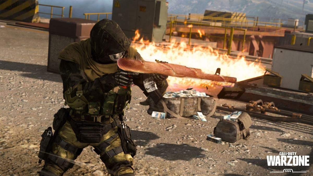 Стример Call of Duty; Warzone сыграл в игру на французском багете