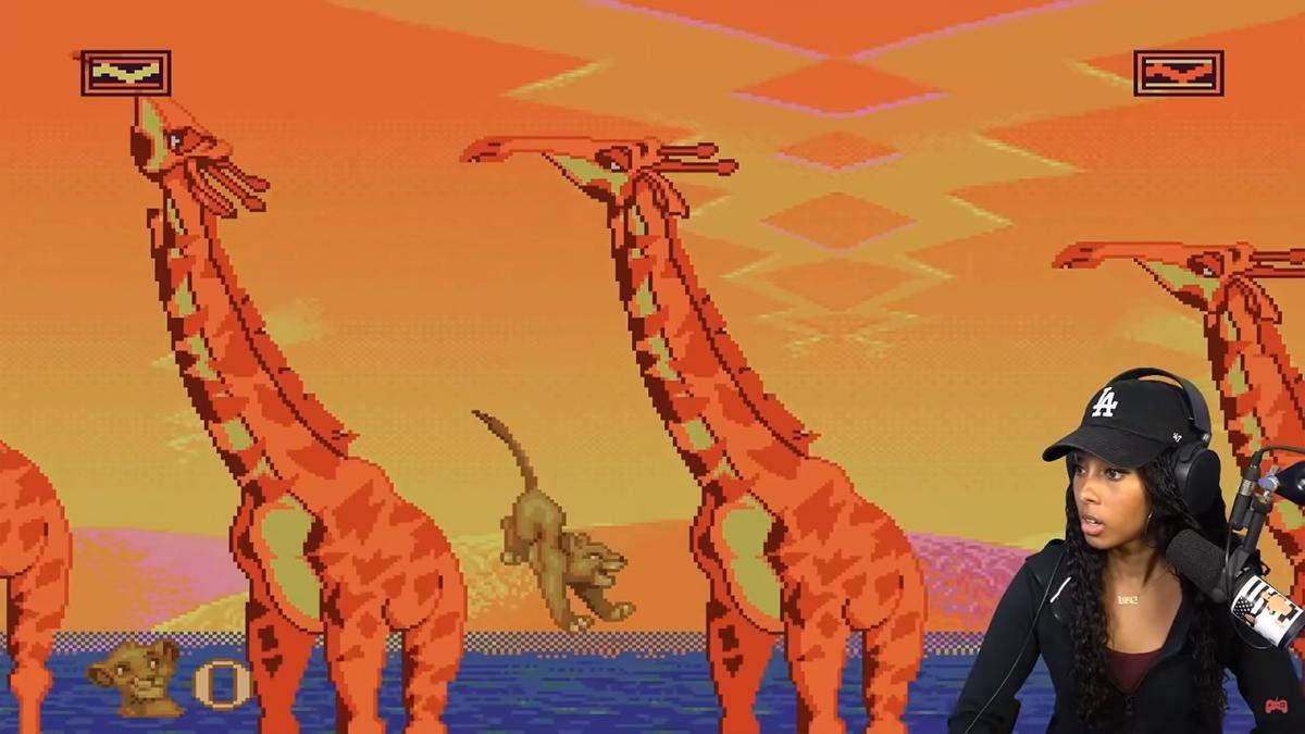 Брутальный Game Over: стримерша познакомилась с игрой The Lion King