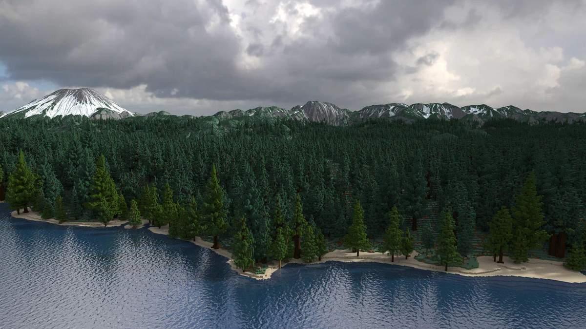 Геймер создал фотореалистичный ландшафт в Minecraft