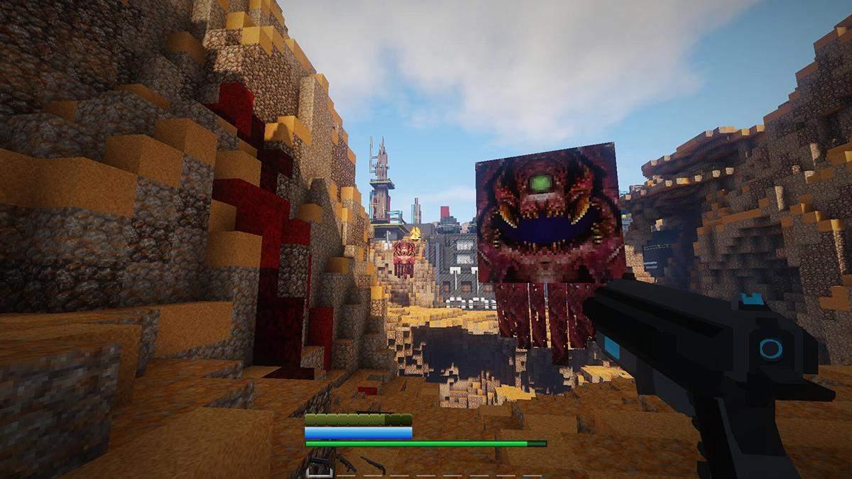Гравець у Minecraft вже майже рік створює мапу з гри DOOM