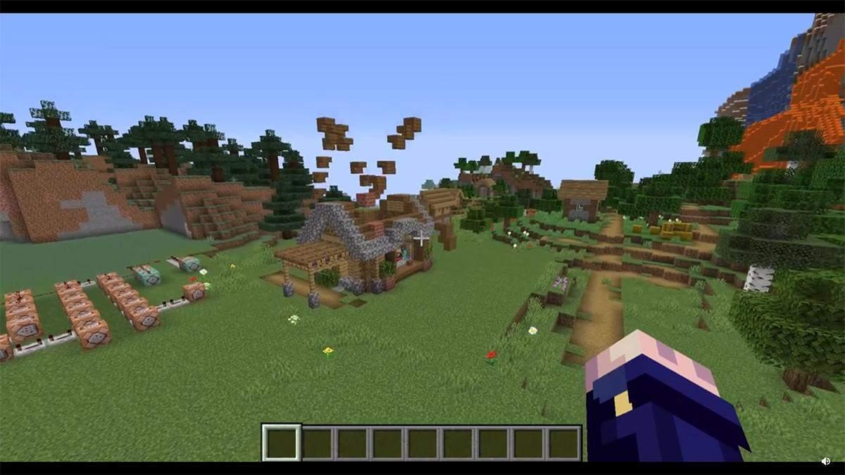 Майже вулична магія: гравець у Minecraft показав будинок, який збирається автоматично – відео