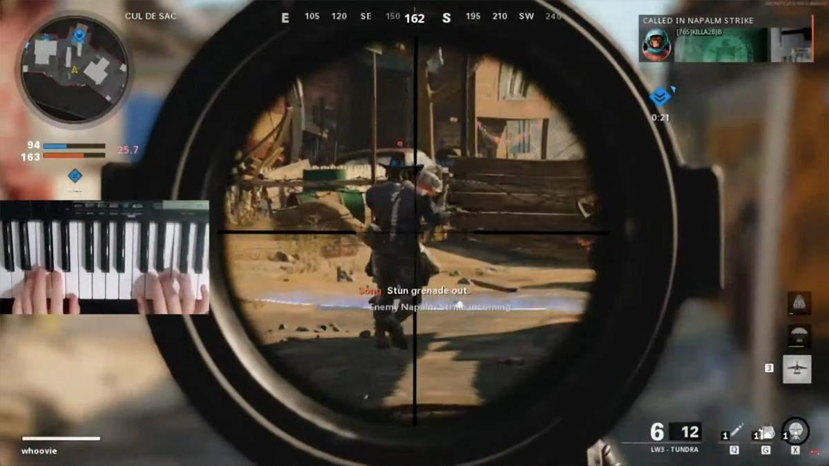 Игрок Call of Duty показал бешенное мастерство, используя пианино вместо геймпада: видео