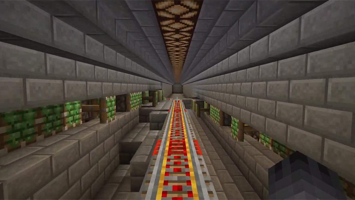 Умные системы: игрок в Minecraft создал железную дорогу, которая собирается автоматически