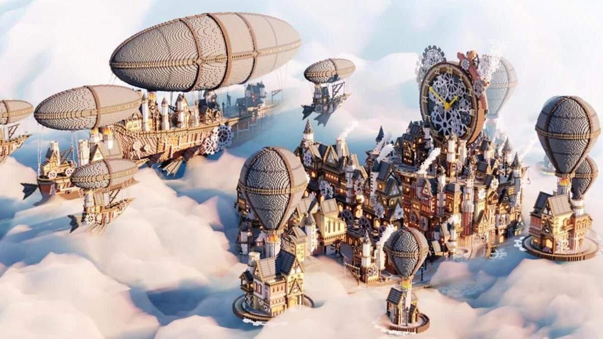 Команда энтузиастов создала в Minecraft город в стиле стимпанк