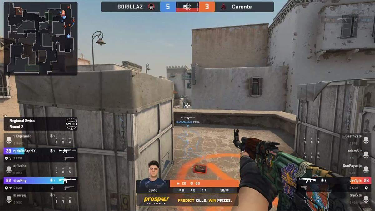 Курйозна розв'язка раунду в професійному матчі із CS:GO