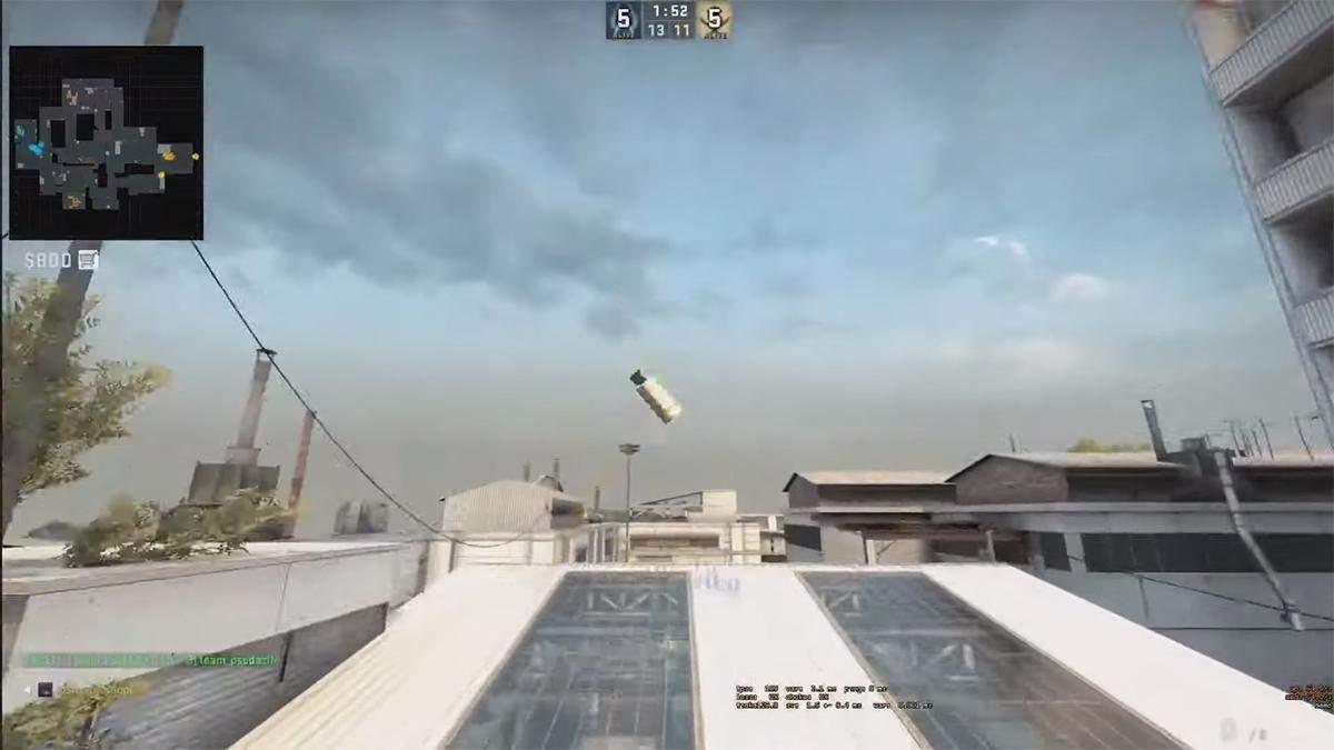 Игрок в CS:GO стал жертвой дымовой гранаты на 5 секунде раунда