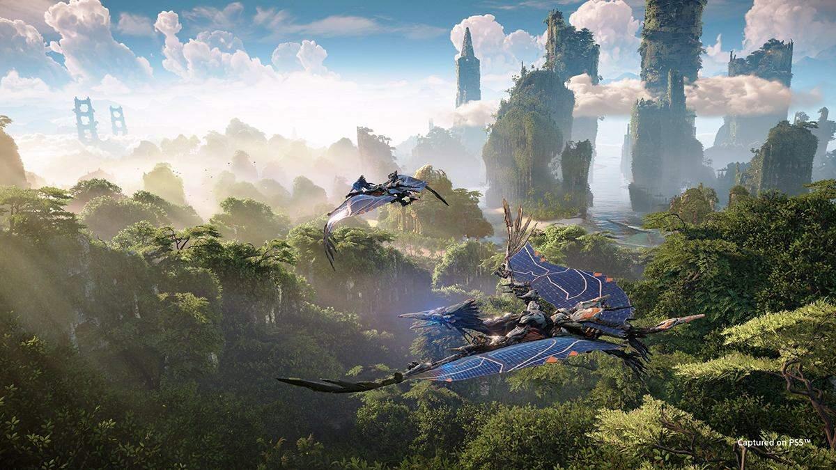Horizon Forbidden West: волшебный мир и бой с механическим мамонтом