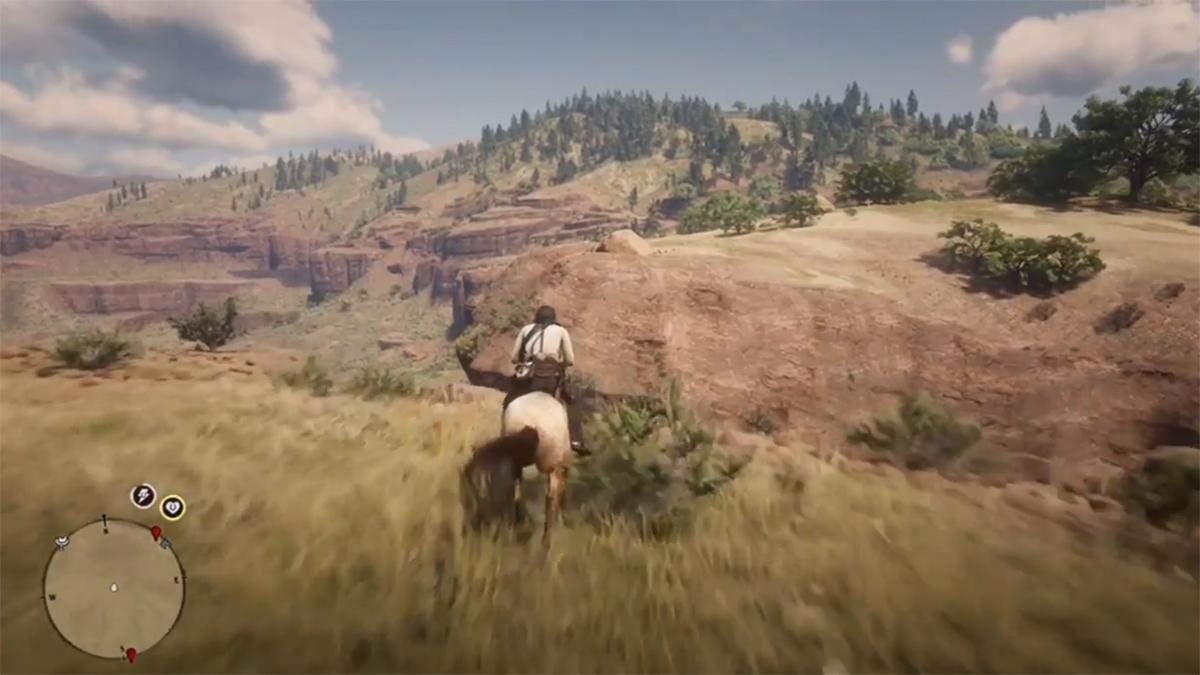 Игрок в Red Dead Redemption 2 попытался повторить сцену из мультфильма