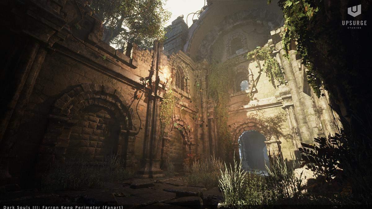 Цитадель Фаррона из Dark Souls 3 на движке Unreal Engine 5