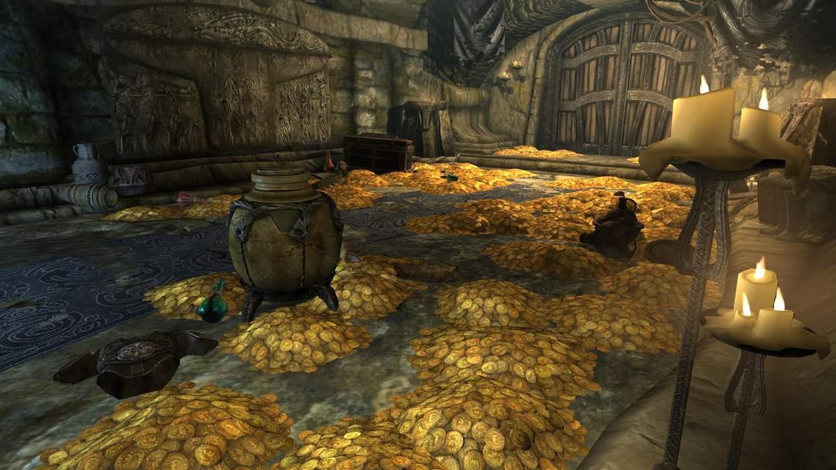 Геймер сумел собрать просто невероятную сумму золота в Skyrim, не используя модов или читов