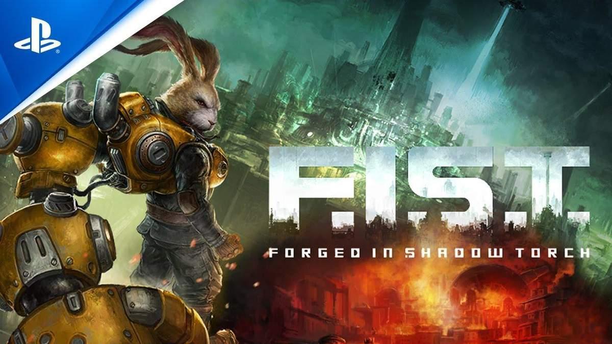 Кролик-киборг крошит врагов как морковку в трейлере зажигательной метроидвании F.I.S.T.