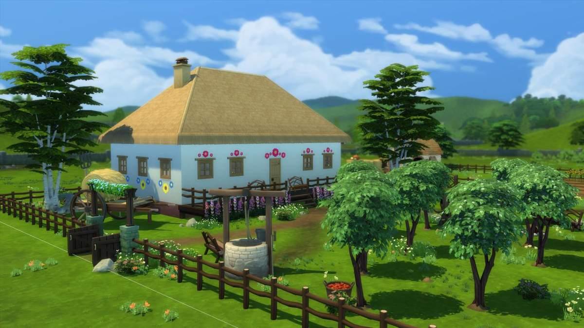 Девушка воссоздала традиционный украинский дом в The Sims 4