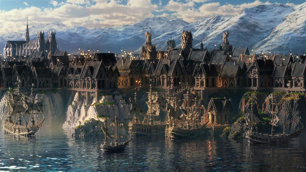 Энтузиасты создали в Minecraft огромный город в готическом стиле