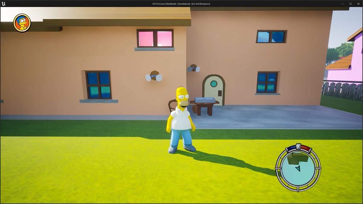 Розробник оцінив: блогер створив ремастер гри The Simpsons Hit & Run на Unreal Engine 5 - Ігри - games