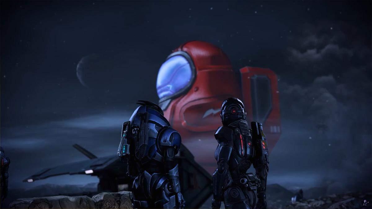 Забавная модификация превращает Жнецов из Mass Effect 3 на персонажей Among Us: смешное видео - Игры - Games
