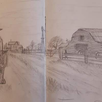Майже як у відеогрі: гравець у Red Dead Redemption 2 робить замальовки у стилі головного героя