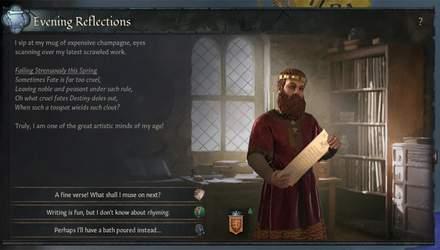 Спокушати та катувати віршами: у Crusader Kings III можна буде стати поетом та творити