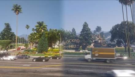 Збирається змінити майже все: фанат працює над глобальним графічним модом для GTA V – відео