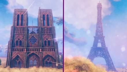Гравці Valheim відтворили культові споруди Парижа в грі – захопливі фото