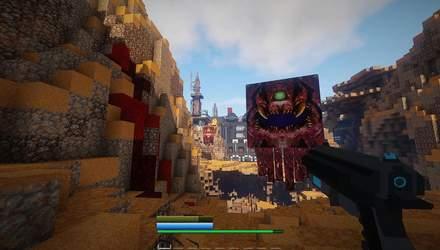 Майже 800 годин роботи та вражаючий результат: ентузіаст створює у Minecraft мапу з DOOM