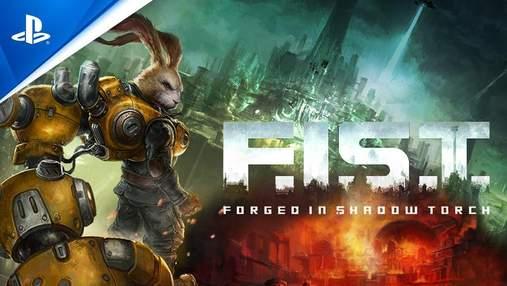Кролик-кіборг кришить ворогів як моркву в трейлері запальної метроідванії F.I.S.T.