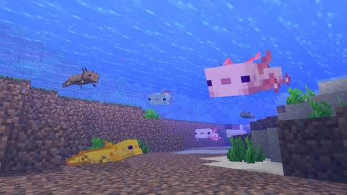 Милі, але небезпечні: гравець в Minecraft використав 100 аксолотлів для битви з фінальним босом