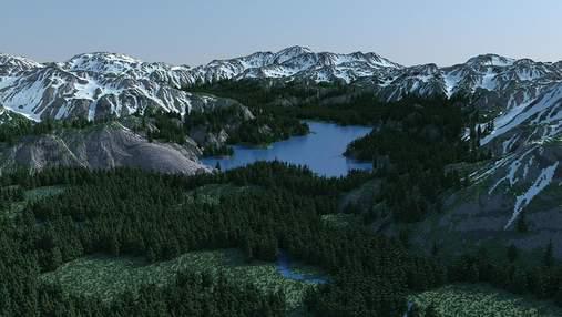 Результат вражає: ентузіаст створив у Minecraft величезну фотореалістичну мапу – фото