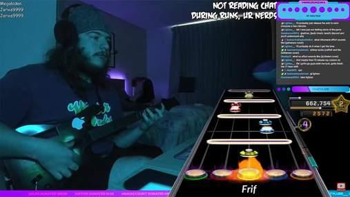 """Ідеальне виконання: геймер пройшов на 100% """"неможливий"""" трек з Guitar Hero"""