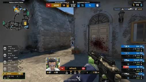 Претендент на момент года в CS:GO: refrezh взял невероятный клатч в матче с Team Liquid